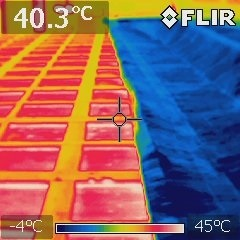 遮熱材の効果 比較画像
