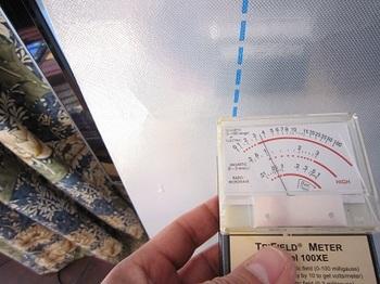 磁場遮蔽後の測定