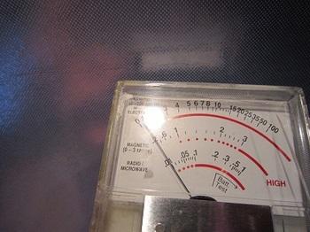 電磁波 磁場対策後の測定値
