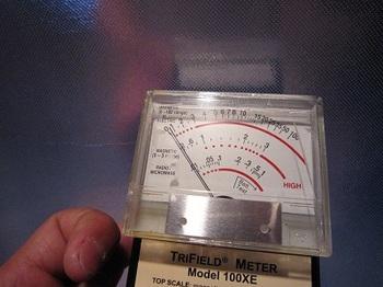 電磁波 電場対策後の測定値