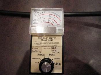 電磁波シールド前の電場