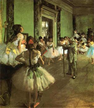ドガの『ダンス教室』